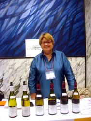 ブルゴーニュの有名なワイン生産者Anne Parent(アンヌ・パラン)と一緒に。
