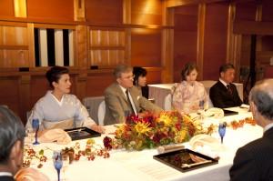 石川県主催の城内ディナー